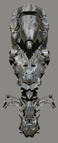 amazing anatomy imagined mechanically, in digital 3D by Spyridon Boviatsos 2012-12 or Dajjal @ ZBrushCentral 988989