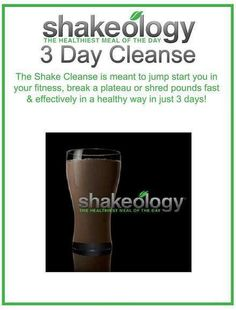 Ready to get healthy! Try the Shakeology 3 Day Cleanse. You'll have 3 delicious shakes/day and you get to eat real food! email me for details. sidwegener@insanefit.com