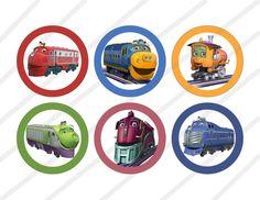 Disney Chuggington Custom Birthday Party 3 pollici cerchio etichette o Toppers digitali stampabili partito favore cerchi