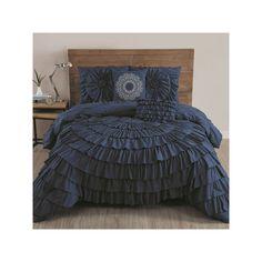 Avondale Manor Sadie 5-piece Comforter Set, Blue (Navy)