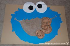 Cookie Monster Birthday Party Cookie Toss Game and other party ideas
