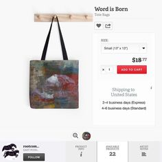Repost @rootcompass New in the #rootcompass #redbubble shop a @rootcompass x @3pieceonline collaboration Word is Born #totebag #3pieceurbanartisan