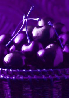 Purple cherries.....not sure if these are for real or if it's just photography color lighting tricks.  Wish they were real tho....they look so good - love cherries & purple would send them over the top  :)