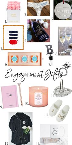 IT'S CUFFING SEASON, PEOPLE! If you're in your or chances are you know of at least one person who got engaged over the holiday se. Thoughtful Engagement Gifts, Engagement Gifts For Couples, Thoughtful Gifts, Cuffing Season, Ways To Show Love, Rose Arrangements, Heart Shaped Rings, Bachelorette Weekend, Champagne Bottles