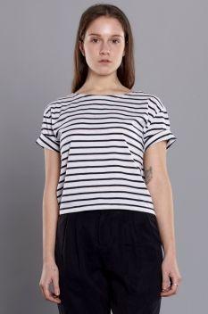 Neuw Birgitte Womens Top Black White Stripe