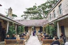 Kylie and Michael's simple and elegant wedding ceremony