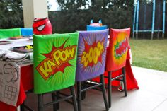 Chair covers Superhero Theme | Life's Little CelebrationsLife's Little Celebrations