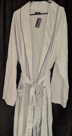 3bdde6e50b Twin Boat Men S Premium Woven Cotton Robe Mens 2Xl Light Grey  fashion   clothing