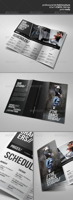 Dance Studio Brochure 2  - GraphicRiver Item for Sale