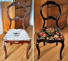 Furniture restored in a simple and creative way finding a second life in the house - Trend Reupholster Furniture 2019 Restoring Old Furniture, Refurbished Furniture, Upcycled Furniture, Painted Furniture, Rococo Furniture, Modern Furniture, Furniture Design, Chair Redo, Chair Makeover