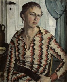 Self Portrait (1925) by Swedish painter Agda Holst (1886-1976)