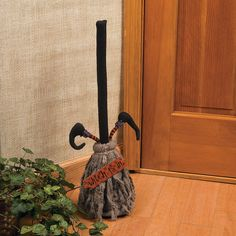 """""""Witch is In"""" Broom with Music - OrientalTrading.com    #OrientalTrading #HalloweenWishList"""