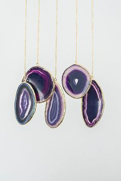 Hey, I found this really awesome Etsy listing at https://www.etsy.com/listing/218720483/purple-necklace-large-slice-agate