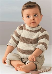 Ideas For Knitting Baby Pullover Crochet Sweaters Baby Knitting Patterns, Free Baby Patterns, Baby Boy Knitting, Christmas Knitting Patterns, Knitting For Kids, Crochet Patterns, Pdf Patterns, Knitting Yarn, Simple Knitting