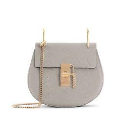 Chain Drew Bag Genuine Leather Handbag Women Shoulder Bag ($50) ❤ liked on Polyvore featuring bags, handbags, shoulder bags, handbags purses, leather purse, brown leather purse, hand bags and leather shoulder handbags