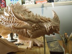 Another angled view of my dragon sculpt.