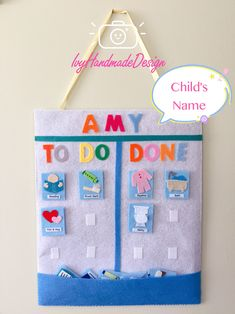 Felt Children's Rhythm Wall Hanging Chart board/Routine Chart/Teaching Resource/Daily Visual Planner with Removable Activity/Symbols/Gift - Web 2020 Best Site Toddler Routine, Toddler Schedule, Routine Chart, Educational Toys For Toddlers, Toddler Activities, Montessori Toddler, Montessori Activities, Learning Activities, Schedule Board