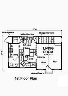 This lovely Cottage style home with Craftsman influences (House Plan has 664 square feet of living space. The story floor plan includes 1 bedrooms. Cottage Style Homes, Cottage House Plans, Small House Plans, House Floor Plans, Free Boat Plans, Remote Control Boat, Outside Storage, Garage Apartment Plans, Bar Sink