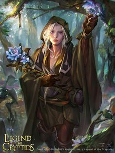Artist: Unknown name aka zinnaDu - Title: Unknown - Card: Blossom Cleric Efrem