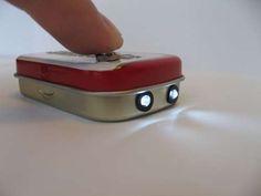 What a cool STEM project - build a flashlight in a mini-Altoids tin!