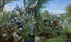 The Battle of Tewkesbury, which took place on 4 May was one of the decisive battles of the Wars of the Roses. The forces loyal to the House of Lancaster were completely defeated by those of the rival House of York under their monarch, King Edward IV. Medieval Knight, Medieval Art, Medieval Fantasy, Richard Iii, Military Art, Military History, Lancaster, Armadura Medieval, Vikings