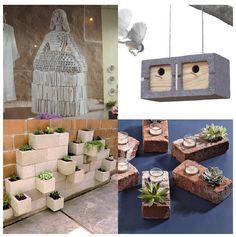 Cinderblock garden planter. EL MUNDO DEL RECICLAJE