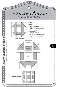 Moda Sampler Block Shuffle - Block 5