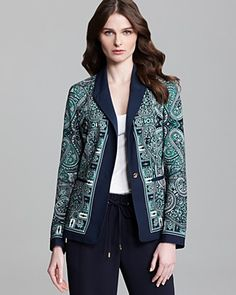 MICHAEL Michael Kors Royal Paisley One Button Blazer | Bloomingdale's // Love this.