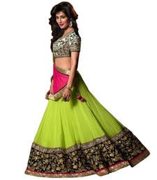 Buy Green  georgette unstitched lehenga choli lehenga-choli online