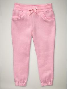 drawstring pants-matches Gap jacket  classic pink