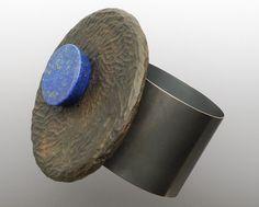 'Black and Blue Cuff' Warwick Freeman (lapis, lignum vitae, silver)
