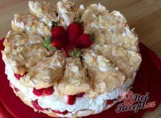 Jahodový sněhový dort Cake Recipes, Cheesecake, Pie, Desserts, Food, Cakes, Cry, Lasagna, Torte