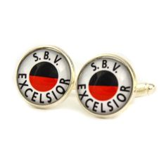 S.B.V. Excelsior Logo cufflinks. Football club cufflinks. Personalised  Men's jewelry accessories gift. by Mysstic on Etsy
