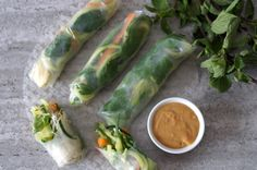 These light vietnamese vegetable rolls are filled with fresh vegetables and are the perfect lunch or party snack