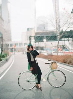 Mint green bike - Linus mixte