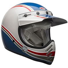Bell RSD Malibu Adult Moto-3 Off-Road Motorcycle Helmet - Blue/White