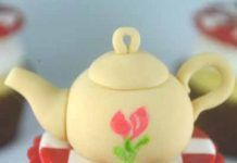 How to make a teapot cupcake topper Tractor Birthday Cakes, Fondant Baby Shoes, Daisy Cupcakes, Green Cake, Marshmallow Fondant, Rose Tutorial, Cake Central, Gel Food Coloring, Cake Icing