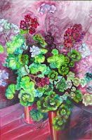 "Chaos, Oil and Acrylics on canvas, 24"" x 36"", http://www.facebook.com/SnejanaArt"
