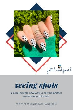 Nail Polish Stickers, Nail Polish Strips, Nail Polish Colors, Manicure At Home, Diy Manicure, Polka Dot Nails, Polka Dots, Fall Nail Trends, Dot Nail Designs
