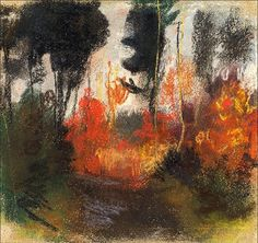 Albert Weltli - 'Wald in Herbstfarben', pastell, 1904.