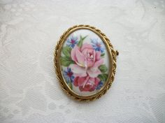 Vintage Limoges France Hand Painted Pink by PhylmasFabulousFinds