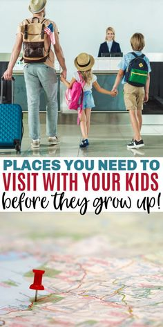 These 10 places to visit with your kids before they grow up will give them life-long memories and experiences. Traveling as a family is educational and fun. #travel #familytravel #placestovisitwithkids #traveltips #vacationideas
