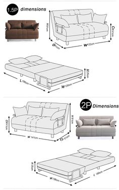 Classaic sofá cama cum diseños B75-2p