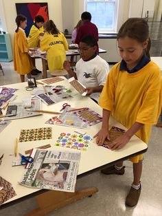 4th graders begin making stab-bound sketchbooks. They'll draw for the first 5 minutes of almost every Art class.  www.stpaulsschool.org