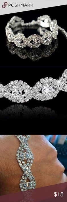 Austrian Crystal Bracelet This Austrian Crystal Bracelet is stunning ❣ it looks amazing in person. The bracelet size is from 8 inches with an expansion to 11 inches. Jewelry Bracelets