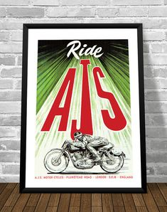 Affiche AJS 1956 - Garage Atelier Vintage - Limited Edition