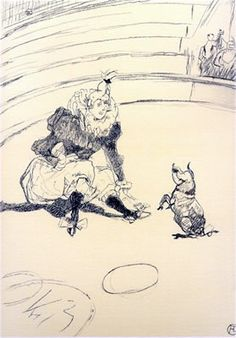 "Artist:        Henri Toulouse Lautrec Title:        The Circus Portfolio Year:        1990 (After) Medium:        Lithograph Edition:        350 Paper Size:    16-3/4"" x 12-1/2"""