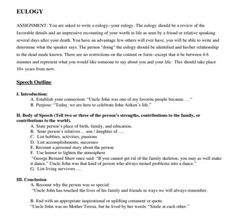 Eulogy Template: 27 Heartfelt Templates to Honor the ...