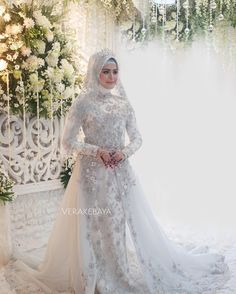 Muslimah Wedding Dress, Hijab Style Dress, Bridal Hijab, Wedding Hijab, Wedding Prep, Bride Gowns, Mode Hijab, Bridesmaid Dresses, Wedding Dresses