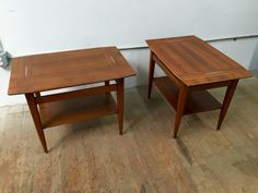 Mid century Danish modern side tables (two available) by teakbrooklyn on Etsy https://www.etsy.com/listing/257115598/mid-century-danish-modern-side-tables